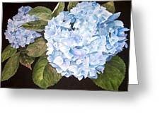 Blue On Blue Greeting Card by Karen Casciani