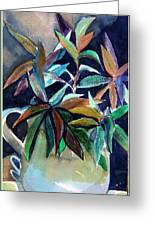 Blue Pitcher Greeting Card by Mindy Newman