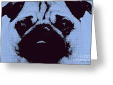 Blue Pug Greeting Card by Jayne Logan Intveld