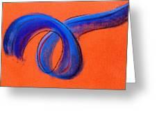 Blue Ribbon Greeting Card by Hakon Soreide