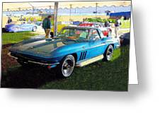Blue Steel - Chevrolet Corvette Stingray Greeting Card by Kenneth Breeze