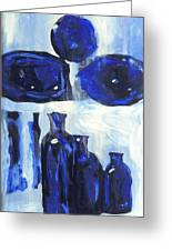 Blue Still Life Greeting Card by Hatin Josee