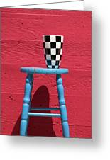 Blue Stool Greeting Card by Garry Gay