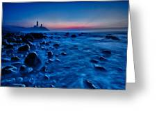 Blue Tide Greeting Card by Rick Berk