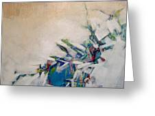 Blue Vase Greeting Card by Dale  Witherow