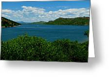 Blue Waters Of Horsetooth Reservoir Greeting Card by Aaron Burrows