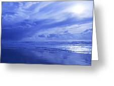 Blue Waterscape Greeting Card by Christine Mariner