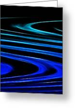 Blue Waves Greeting Card by Ricky Barnard