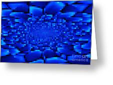 Blue Windows Abstract Greeting Card by Carol Groenen