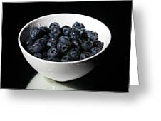 Blueberries Greeting Card by Michael Ledray