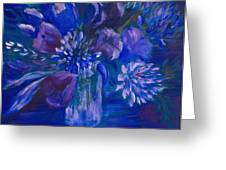 Blues To Brighten Your Day Greeting Card by Joanne Smoley