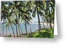 Bluesea Middle Of The Trees Greeting Card by Sudha Vemuri