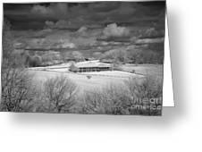 Bluffs Hotel Blue Ridge Parkway Greeting Card by Dan Carmichael
