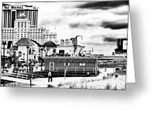 Boardwalk Casinos Greeting Card by John Rizzuto