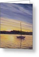 Boat At Rest Greeting Card by Antonia Myatt