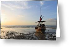 Boat Greeting Card by Buchachon Petthanya