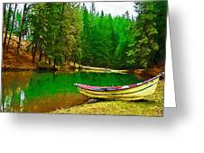 Boat Of The Lake Greeting Card by Dale Stillman