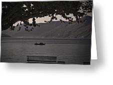boat on the Lago Maggiore Greeting Card by Joana Kruse