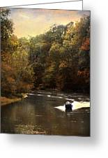 Boating On The Hatchie Greeting Card by Jai Johnson