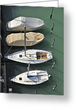 Boats And Water From Above Greeting Card by Matthias Hauser