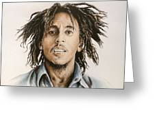 Bob Marley Greeting Card by Andrew Read