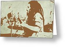 Bob Marley Brown 1 Greeting Card by Naxart Studio
