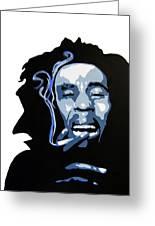 Bob Marley Greeting Card by Michael Ringwalt