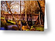 bob white covered bridge Greeting Card by Lisa and Norman  Hall