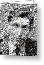 Bobby Fischer Chess Mosaic Greeting Card by Paul Van Scott
