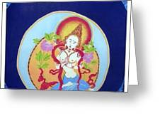 Boddhisatva Greeting Card by Elisabeth Van der Horst