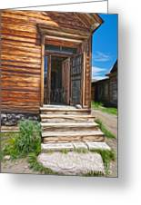 Bodie Ghost Town - Old House 01 Greeting Card by Gregory Dyer
