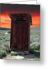 Bodie Outhouse Greeting Card by Lydia Warner Miller
