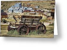 Bodie Wagon Greeting Card by Kelley King