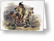 Bodmer: Blackfoot Horseman Greeting Card by Granger