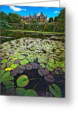 Bodnant House Greeting Card by Meirion Matthias