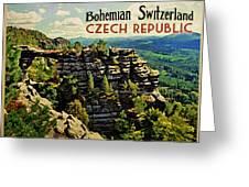 Bohemian Switzerland Czech Republic Greeting Card by Flo Karp