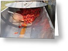 Boiled Crawfish Greeting Card by Jim DeLillo