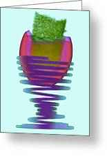 Boiled Egg In An Eggcup, X-ray Greeting Card by D. Roberts