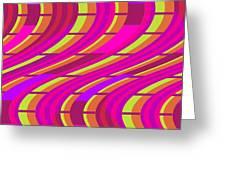 Bold Swirl  Greeting Card by Louisa Knight