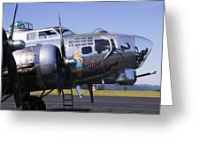 Bomber Sentimental Journey Greeting Card by Garry Gay