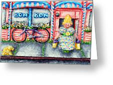 Bon Bon Betty Greeting Card by Alison  Galvan