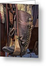 Boots Of A Drover Greeting Card by Joan Carroll