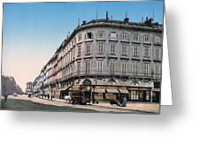 Bordeaux - France - Rue Chapeau Rouge From The Palace Richelieu Greeting Card by International  Images