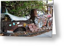 B.o.'s Fish Wagon - Key West Florida Greeting Card by Bill Cannon