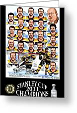 Boston Bruins Stanley Cup Champions Greeting Card by Dave Olsen