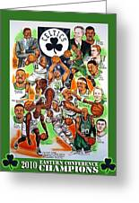 Boston Celtics Eastern Conference Champions Greeting Card by Dave Olsen