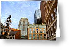 Boston Downtown Greeting Card by Elena Elisseeva
