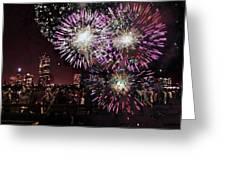 Boston Forth Of July Greeting Card by Sasha  Grebenyuk