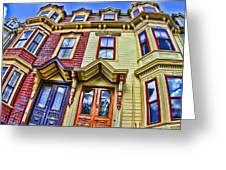 Boston Life Greeting Card by Dawn Nicoli