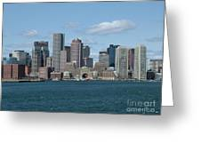 Boston Greeting Card by Renata Zau